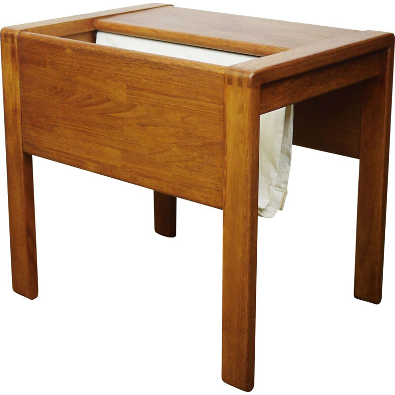 Vintage teak sewing table by D-Scan, Singapore 1960