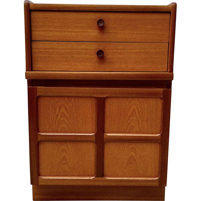Vintage storage cabinet with drawers by Nathan, UK 1980