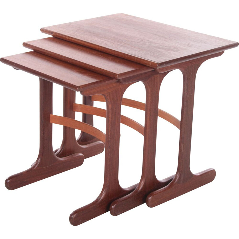 Teak vintage nesting tables by Victor Bramwell Wilkins for G-plan, 1960s