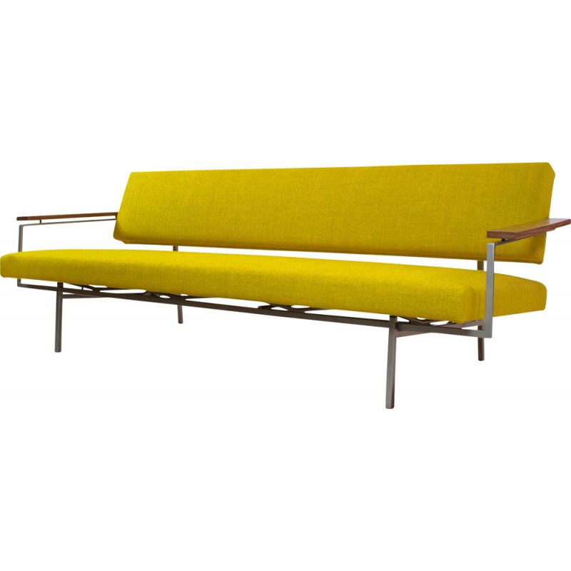 Lotus 75 vintage sofa in yellow fabric by Rob Parry, 1950s