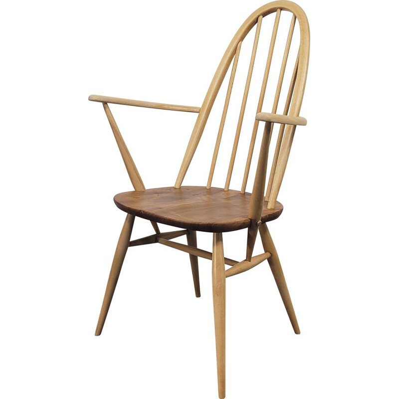 Mid century dining chair with armrests by Ercol Quaker Carver, 1960s