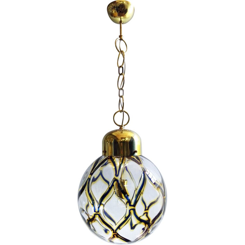 Large vintage Murano glass pendant lamp, Italy 1960