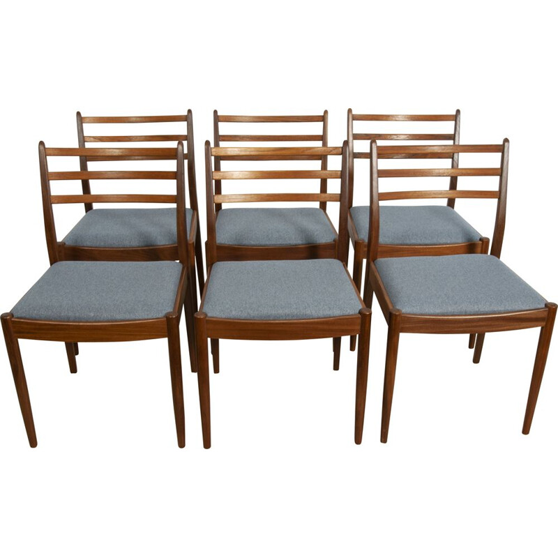 Set of 6 vintage teak chairs by Victor Wilkins for G-Plan, 1960