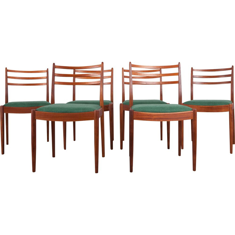 Set of 6 vintage fabric and teak chairs by Victor Wilkins for G-Plan, 1960