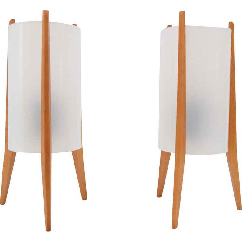 Pair of vintage table lamps by Rockets for Pokrok Zilina, Czechoslovakia 1970
