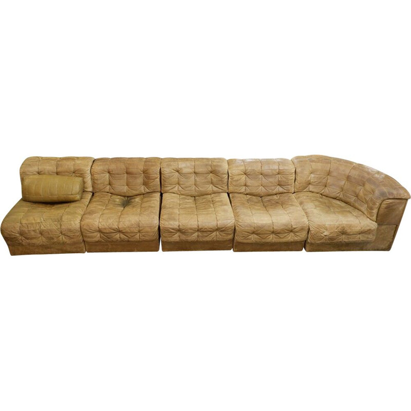 Vintage DS 11 modular sofa in leather by Sede, Switzerland 1970