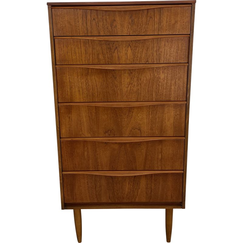 Vintage teak chest of drawers by Frank Guille for Austinsuite, England 1960s