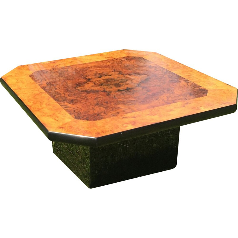 Italian square vintage coffee table by Mario Sabot, 1970