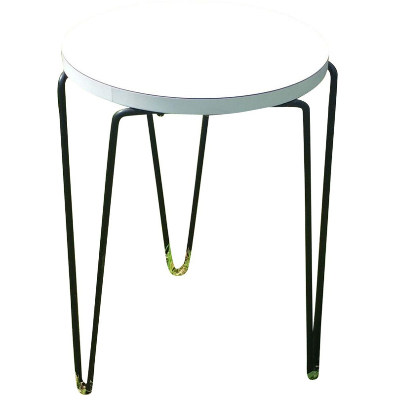 Vintage tripod stool by Florence Knoll, 1950