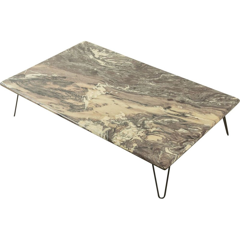 Mid century grey marble coffee table, Germany 1960s