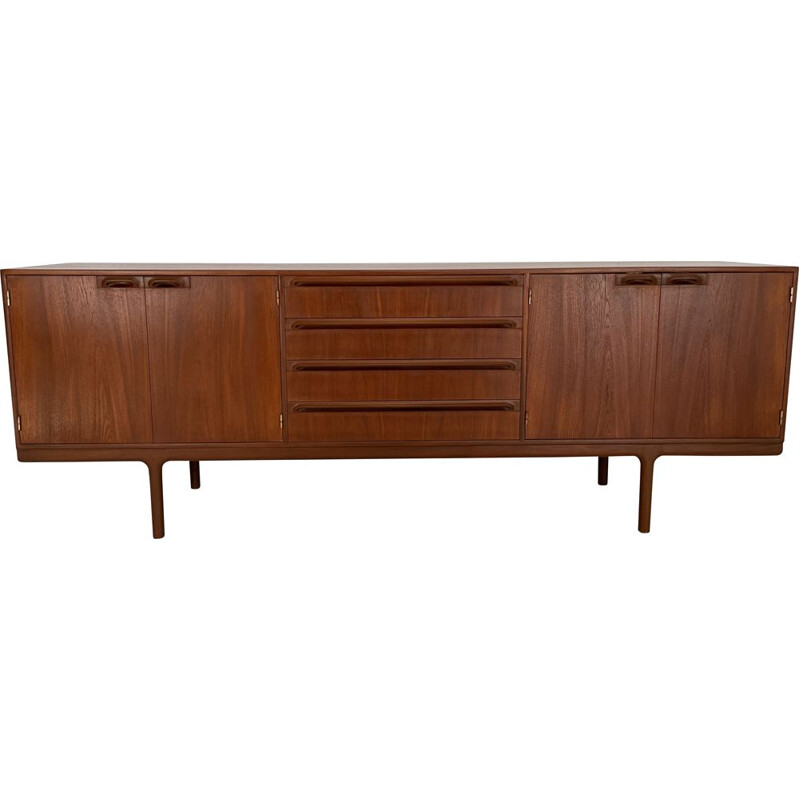 Vintage teak sideboard with 4 doors and 4 drawers for McIntosh, 1960s