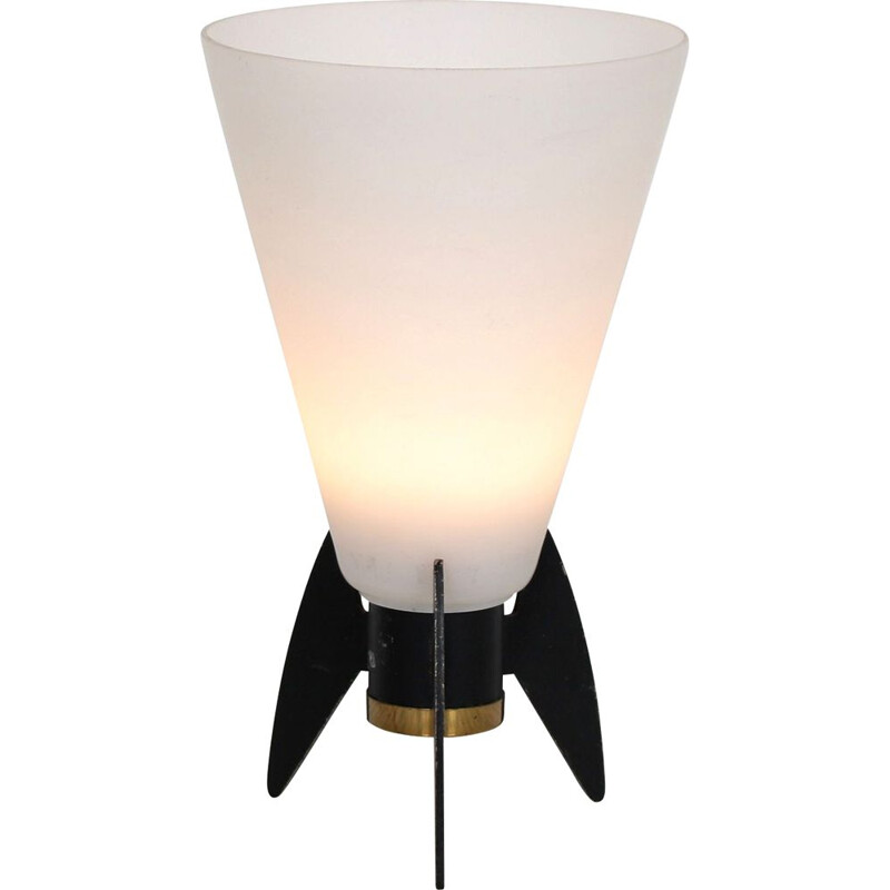 Vintage table lamp in the shape of a rocket, Italy 1950