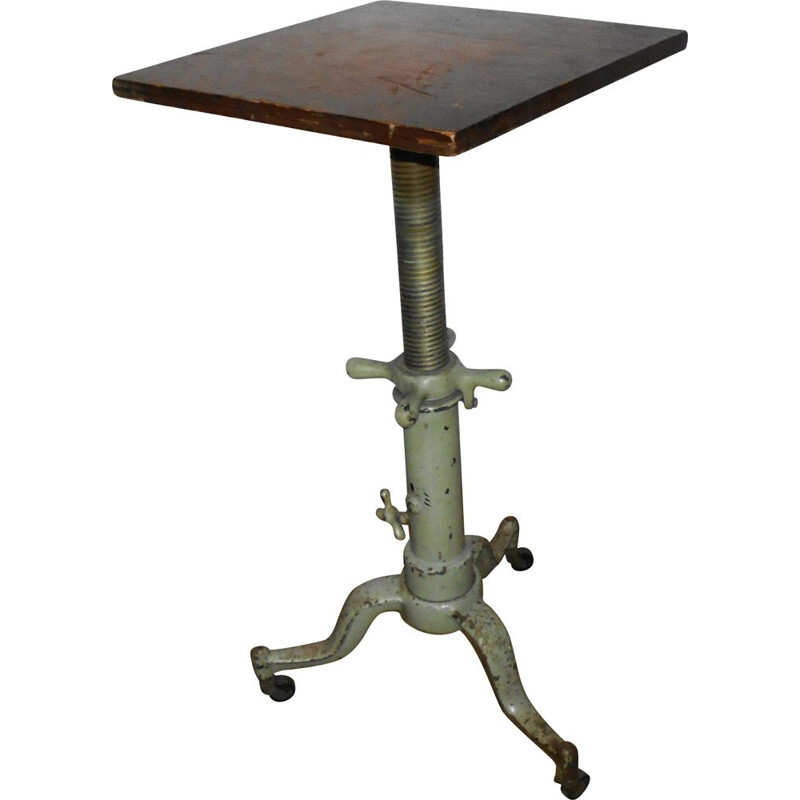 Vintage side table with casters, 1930