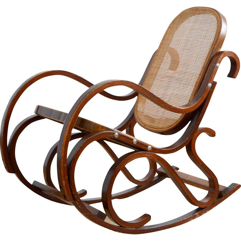 Vintage rocking chair for children by Thonet