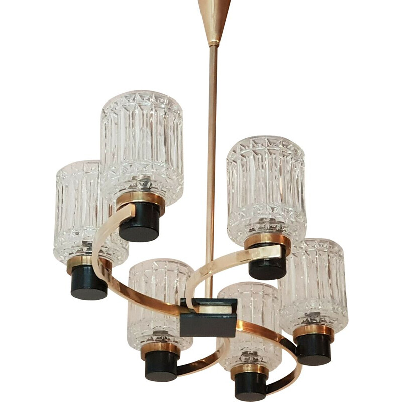 Vintage chandelier by Maison Arlus, 1950s