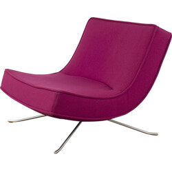 "Dark pink Ligne Roset ""Pop"" lounge chair in anodized aluminium, Christian WERNER - 1990s"