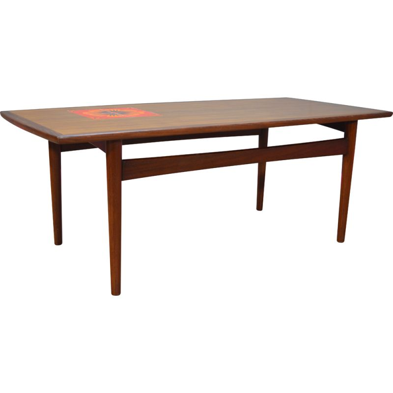 Vintage coffee table with inlaid tiles for G-Plan