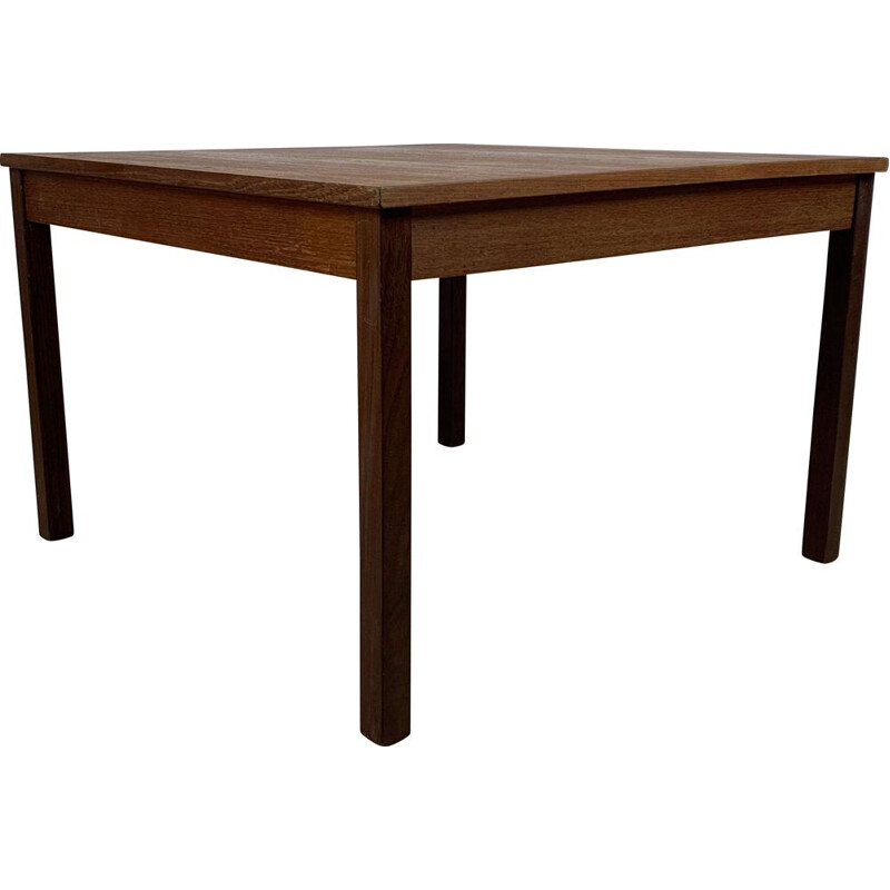 Square vintage teak coffee table by Domino Mobler, Scandinavian 1960s