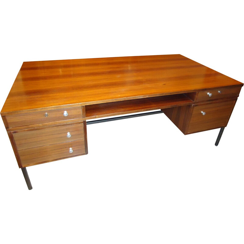 Rosewood french desk, Joseph André MOTTE - 1960s