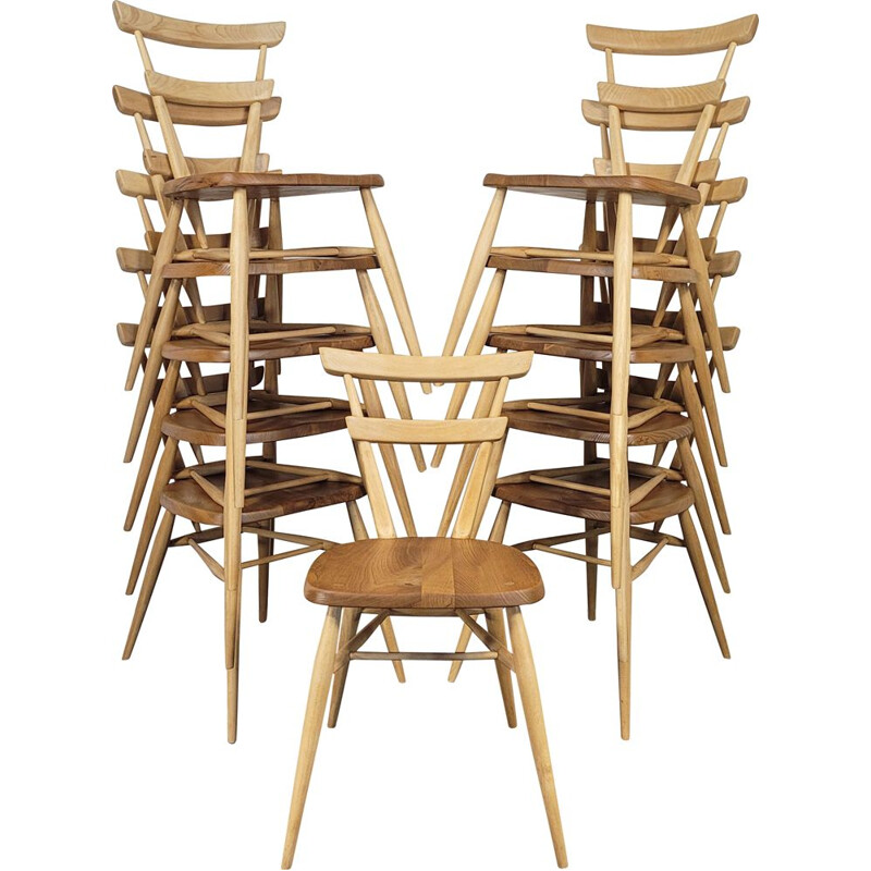 Mid-century No.1 double back stacking dining chair by Ercol, 1960s