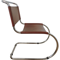 "Thonet ""MR10"" chair in leather, Ludwig MIES VAN DER ROHE - 1970s"