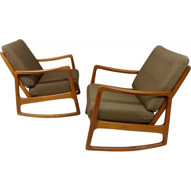 France Son Rocking Chair Ole Wanscher 1960s