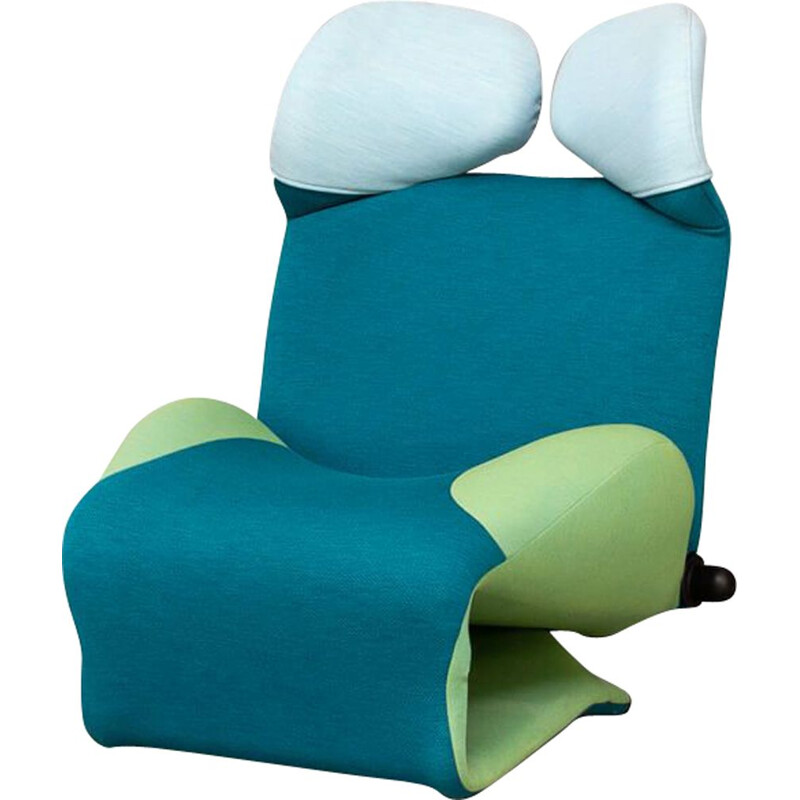 """Mid-century """"wink"""" armchair special edition """"gerrit"""" by Toshiyuki Kita for Cassina, 1980"""