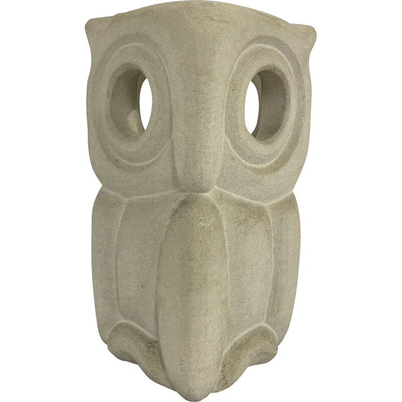 Mid century stone desk lamp in the shape of an owl by Albert Tormos, France 1970