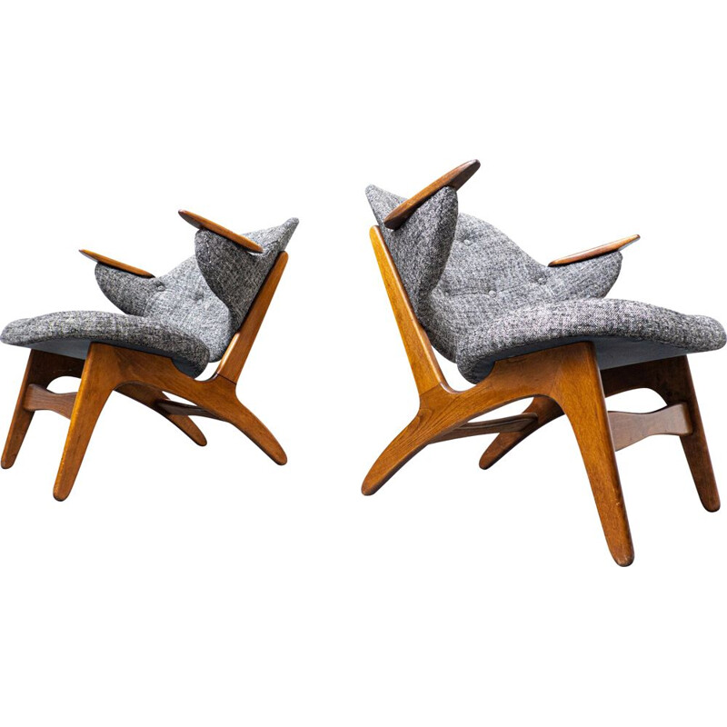 Pair of mid-century armchairs by Carl Edward Matthes, Denmark 1950s