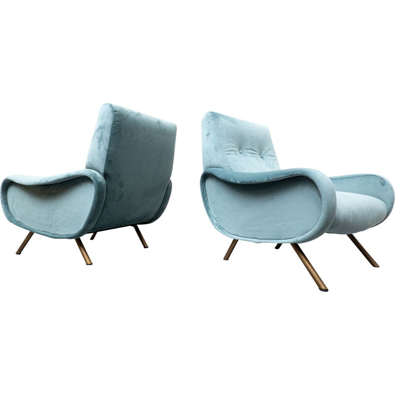 Mid-century pair of armchairs model lady by Marco Zanuso for Arflex, 1950s