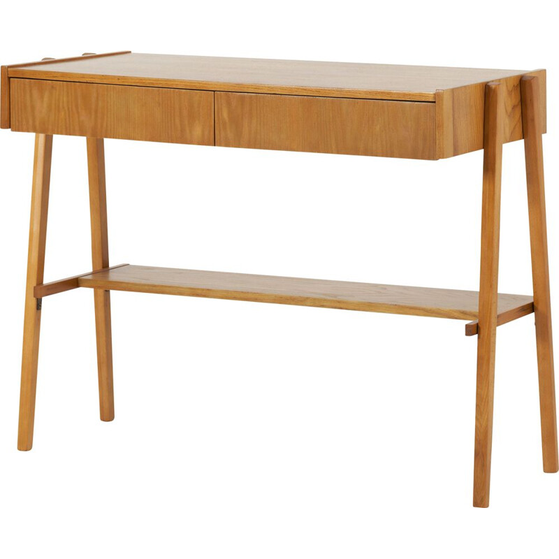 Vintage two drawers console, Czechoslovakian 1960