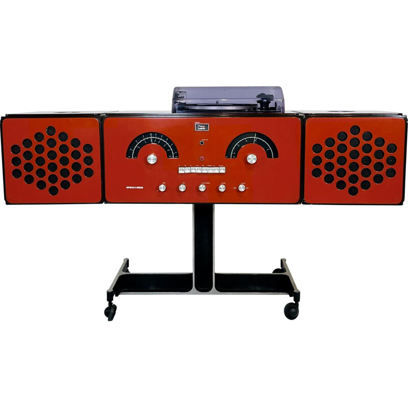 Vintage audio system by Pier Giacomo and Achille Castiglioni for Brionvega, Italy 1965