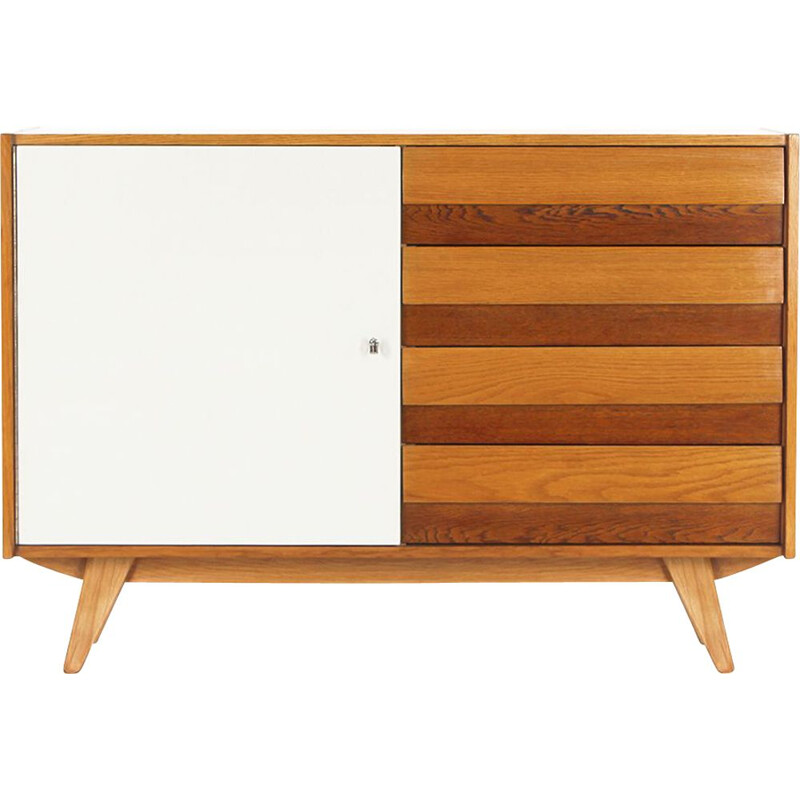 Mid century highboard U 458 with four drawers by Jiri Jiroutek for Interier Praha, 1960s