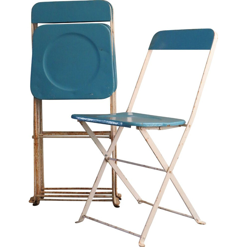 Set of 4 vintage folding garden chairs, 1950s