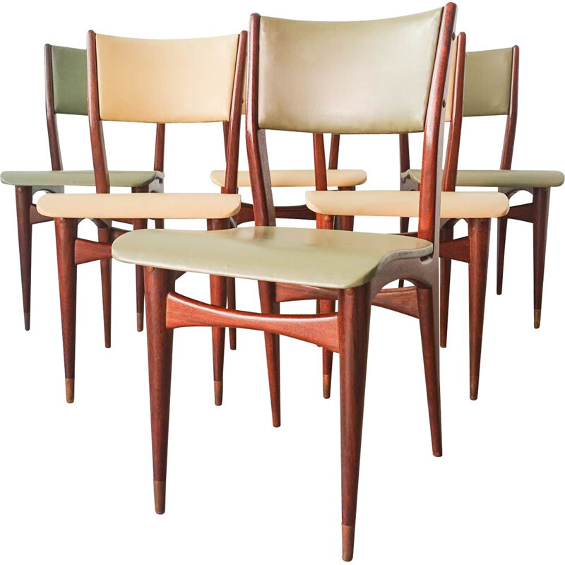 Set of 6 vintage dining chairs by Altamira, Portugal 1950s