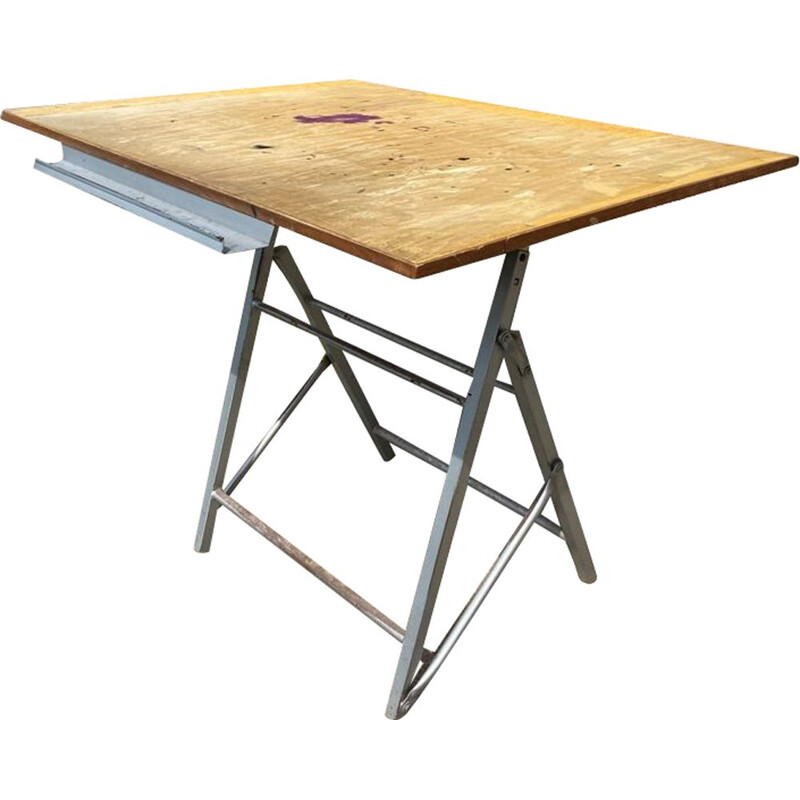 Vintage architect's folding drawing table for Sipe, 1950