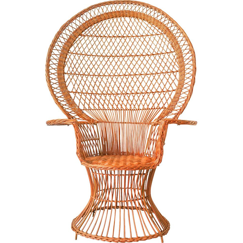 """Iconic """"Emanuelle"""" Peacock Chair, 1970"""