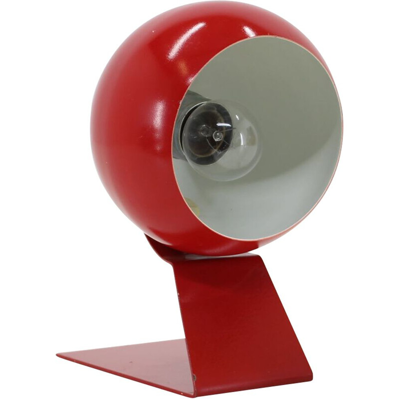 Vintage red adjustable table lamp, Germany 1960s