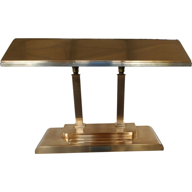 Art Deco Bankers bronze vintage lamp by Smith Metal Arts Inc, USA 1940