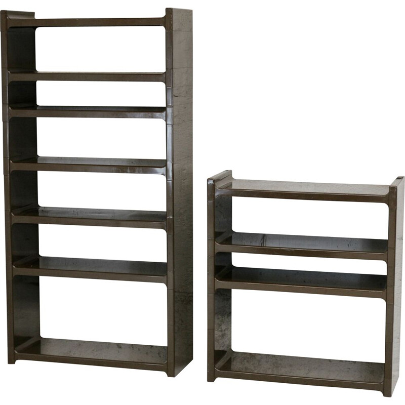 Pair of vintage plastic bookcases, France 1970s