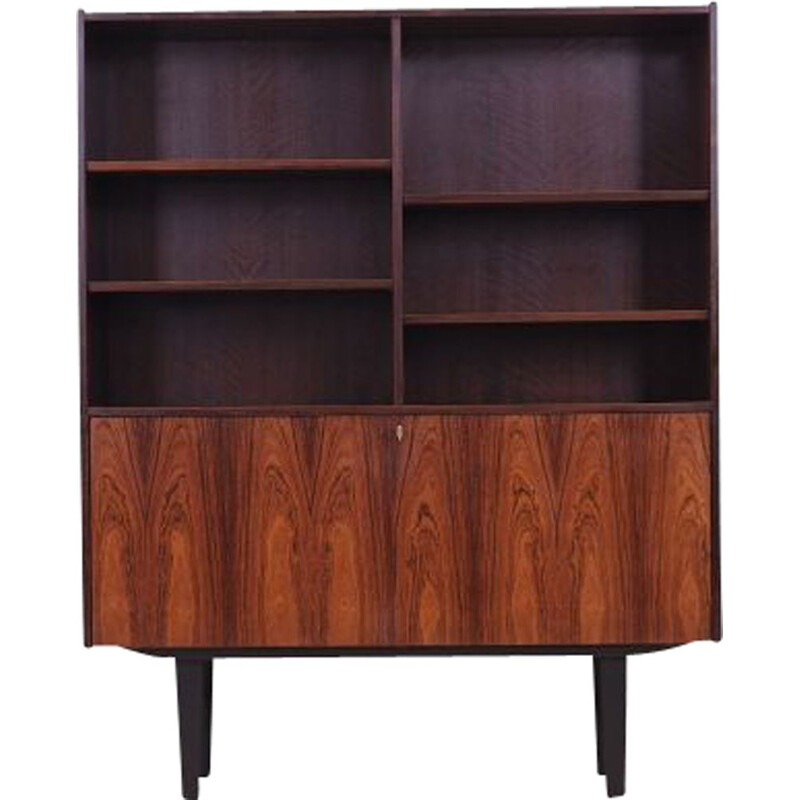 Rosewood vintage stained black bookcase, Denmark 1960s