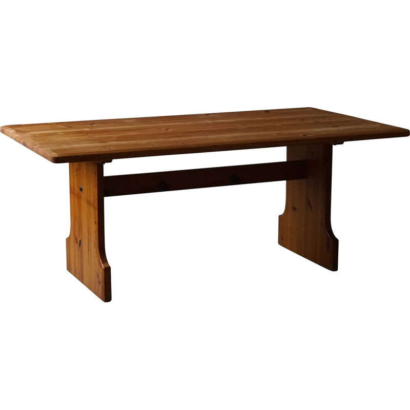 Mid century rectangular dining table in pine by Carl Malmsten for Karl Andersson & Søn, 1970s