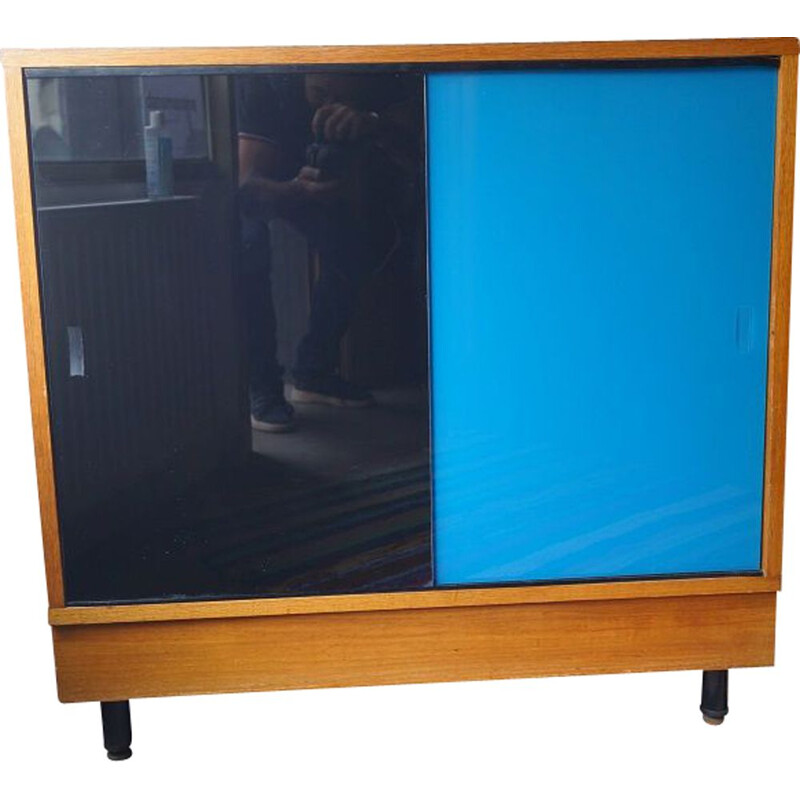 Mid century wood and glass sideboard, 1960