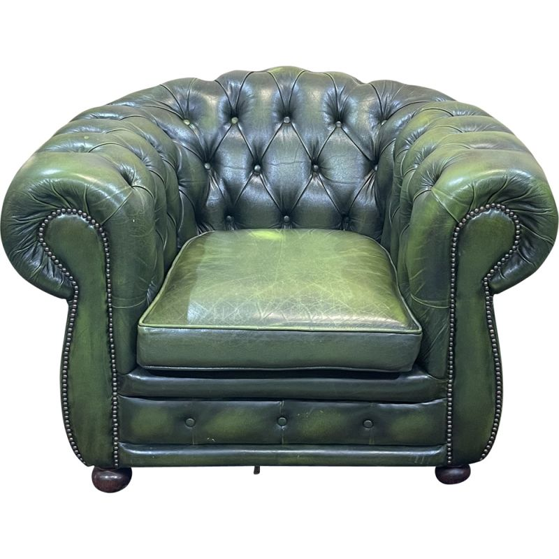 Vintage Chesterfield leather armchair, 1970