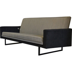 Steiner sofa in metal and grey fabric, René Jean CAILLETTE - 1960s