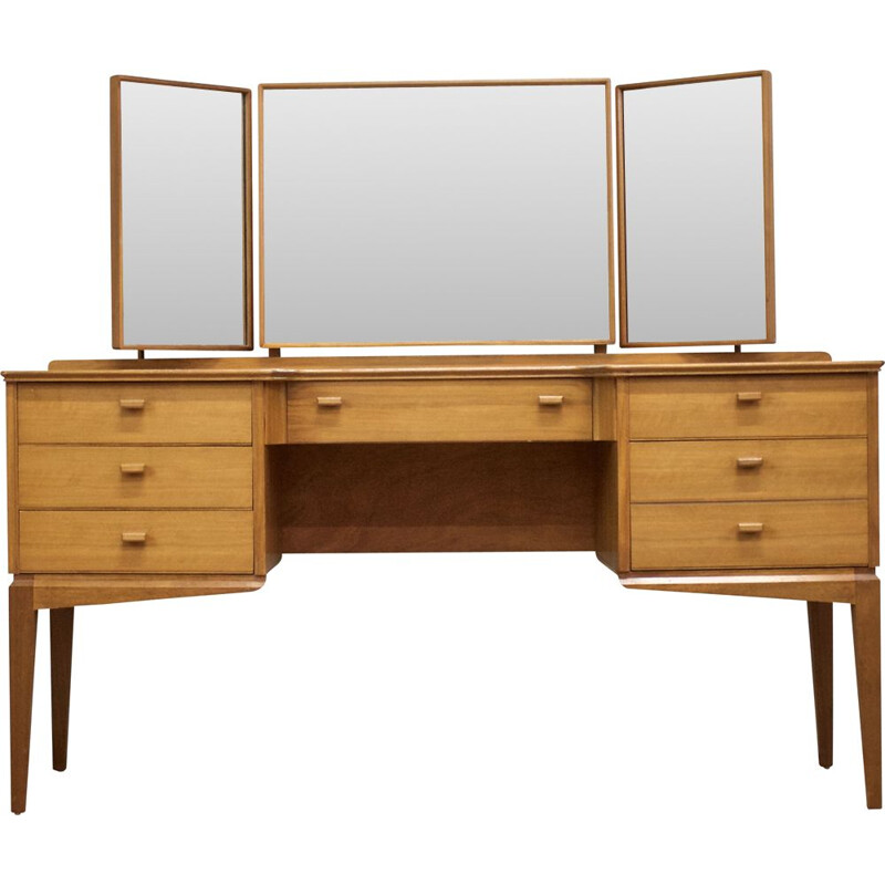 Walnut mid century dressing table by Alfred Cox for Heal's, 1960s
