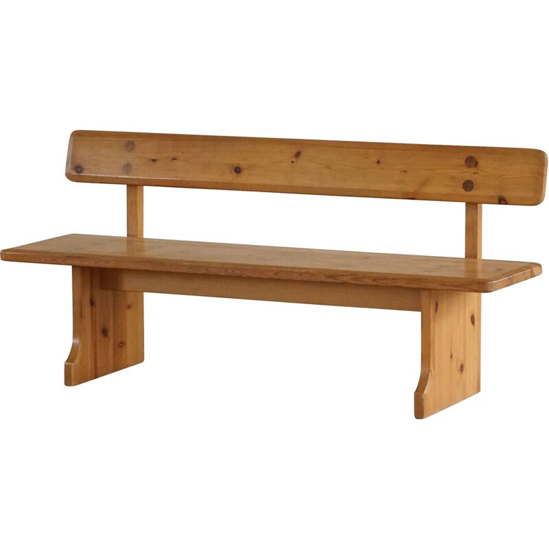 Mid century Swedish pine bench by Carl Malmsten for Karl Andersson & Söner, 1960s