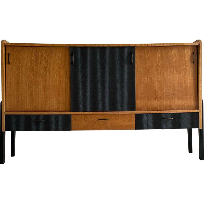 Vintage two-tone sideboard with compass legs, 1950