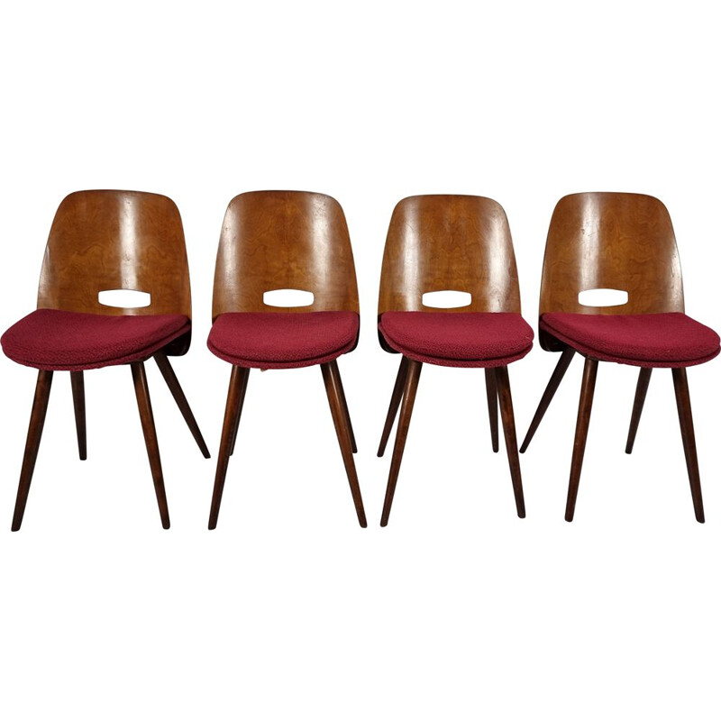 Set of 4 vintage dining chairs by Bratislava, 1960s