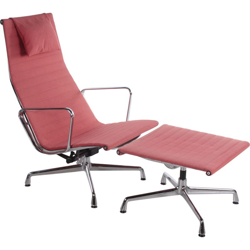 Vintage lounge chair with ottoman by Ray Charles Eames for Vitra